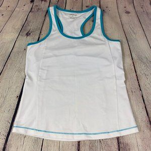 BCG White Athletic Top Tank with Built in Bra